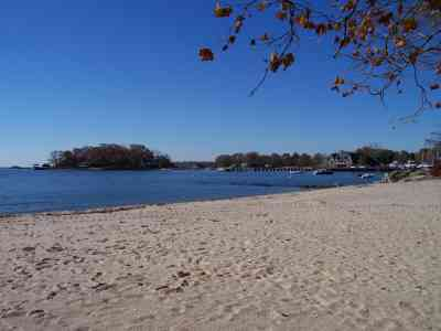 View from Pear Tree Point Beach Park, Darien