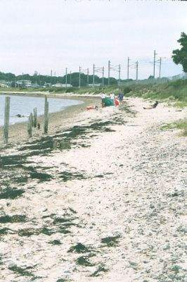 View of the beach at Railroad Beach, East Lyme