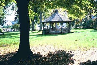 Gazebo at Essex Town Park, Essex