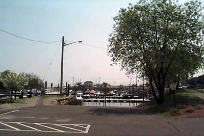 Boat launch entrance at Ash Creek Open Space, Fairfield