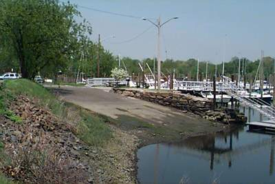 Side view of the boat launch at Ash Creek Open Space, Fairfield