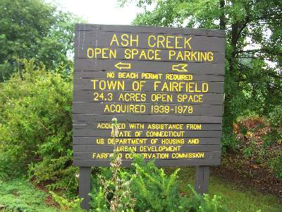 Sign at Ash Creek Open Space, Fairfield