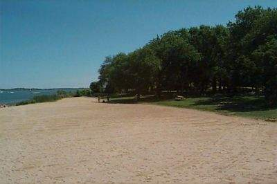 The beach and picnic area at Esker Point Park, Groton