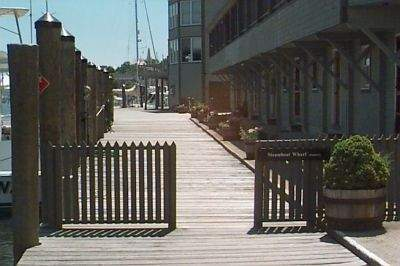 Another walkway at Steamboat Wharf, Groton