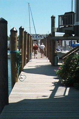 Walkway at Steamboat Wharf, Groton