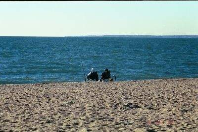 Fishermen at Hammonasset Beach State Park, Madison