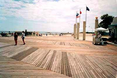 View of the Boardwalk at Ocean Beach Park, New London