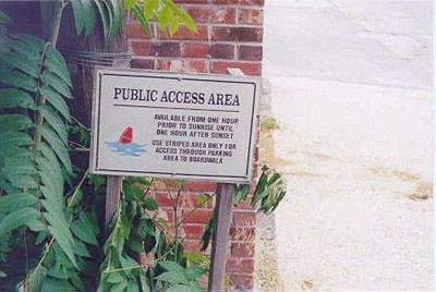 Public Access Sign at One Thirty Seven Rowayton Avenue, Norwalk