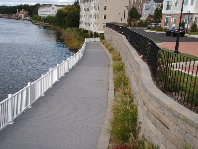 Marquis-by-the-River Condominiums Walkway