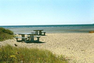 Picnic area at Harvey's Beach, Old Saybrook