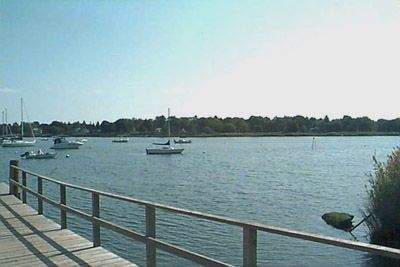View from the Town Dock/Sheffield Street Dock, Old Saybrook