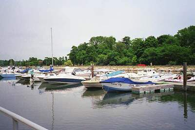 View of boats at Cove Island Boats, Stamford