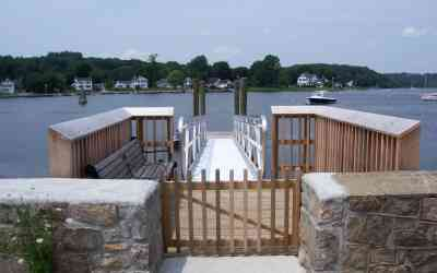 Mystc River Dinghy Dock and Viewing Area, Stonington
