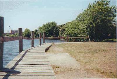 Path along the water at Pawcatuck Park, Stonington