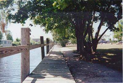 Walkway at Pawcatuck Park, Stonington