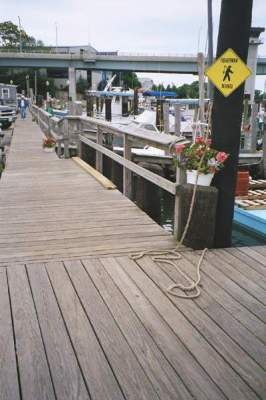 Dock view at Captain John's Sport Fishing Center, Waterford