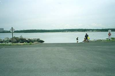 View of launch site at Dock Road State Boat Launch, Waterford