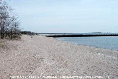 Scenic view of Altshuler Beach, West Haven