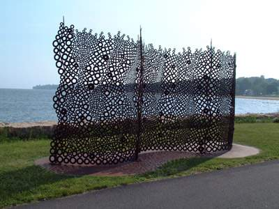 Art sculpture at Savin Rock Conference Center Water Access, West Haven