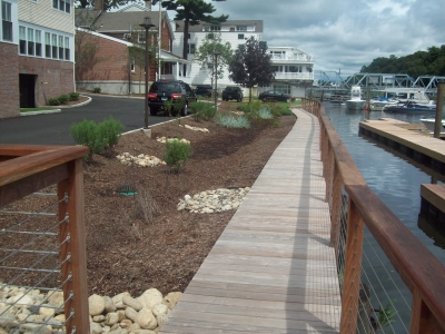 View of walkway at Saugatuck Center, Westport
