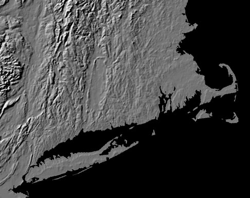 Image of Connecticut and Long Island relief