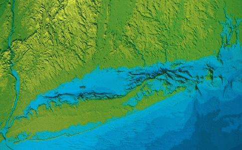 Topographic Map Long Island.Long Island Sound Resource Center Geology Of Long Island Sound